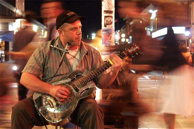 Steel Guitar on Ottawa Street Corner