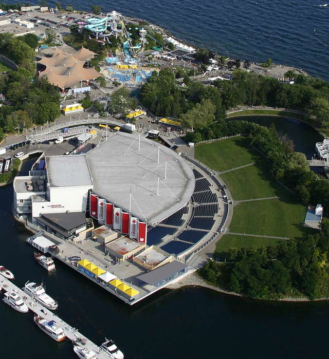 Architecture Urban The Molson Amphitheatre Helicopter View